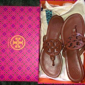 Tory Burch Miller Sandals Like New. Original Box